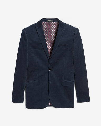 Extra Slim Solid Navy Corduroy Suit Jacket in Blue