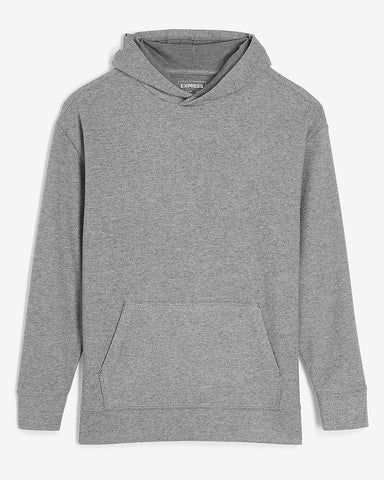 Solid Knit Hoodie in Heather Gray