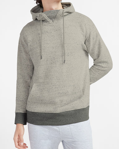 Express X You Supersoft Flannel Hoodie in Light Heather Gray