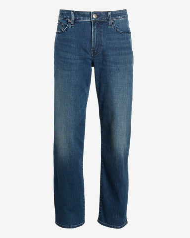 Straight Fit Medium Wash Temp Control Hyper Stretch Jeans in Medium Wash