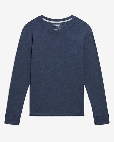 Striped Long Sleeve T-Shirt in Navy