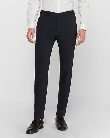 Extra Slim Navy Luxe Comfort Knit Suit Pant in Deep Navy