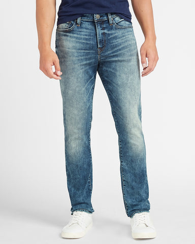 Slim Medium Wash Temp Control Hyper Stretch Jeans in Medium Wash