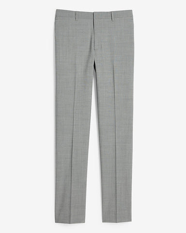 Extra Slim Solid Gray Modern Tech Suit Pant in Grey