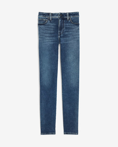 Slim Light Wash Luxe Comfort Knit Jeans in Light Wash