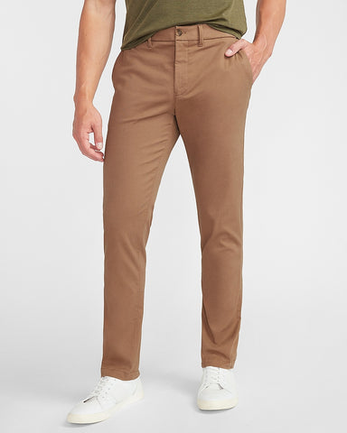 Slim 365 Comfort Hyper Stretch Chino in Walnut