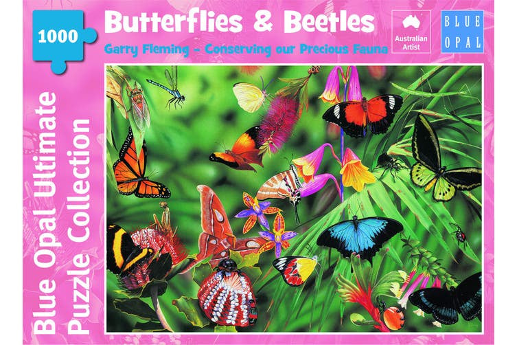 Blue Opal - Fleming Butterflies & Beetles 1000 Piece Jigsaw