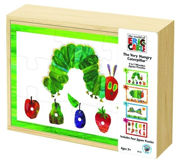 The Very Hungry Caterpillar 4 In 1 Wooden Puzzle