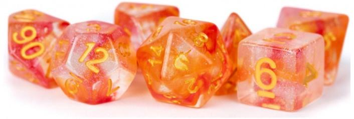 MDG Unicorn Resin Polyhedral Dice Set - Mystic Embers - Good Games
