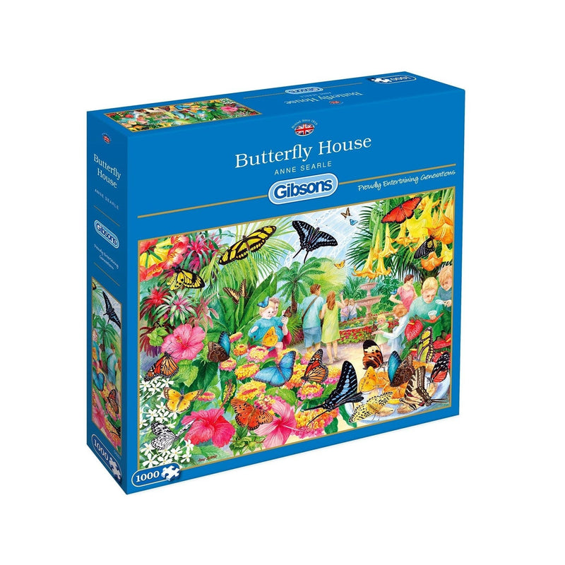 Butterfly House 1000pc Jigsaw - Gibson