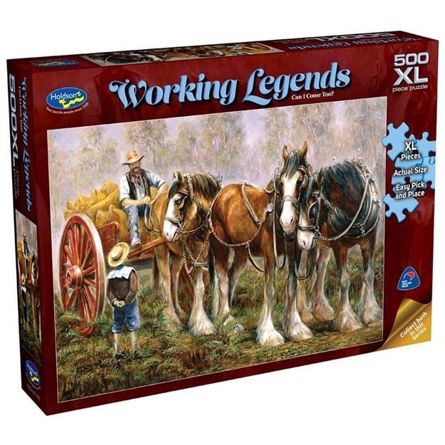 CAN I COME TOO WORKING LEGENDS 500PC XL JIGSAW - HOLDSON