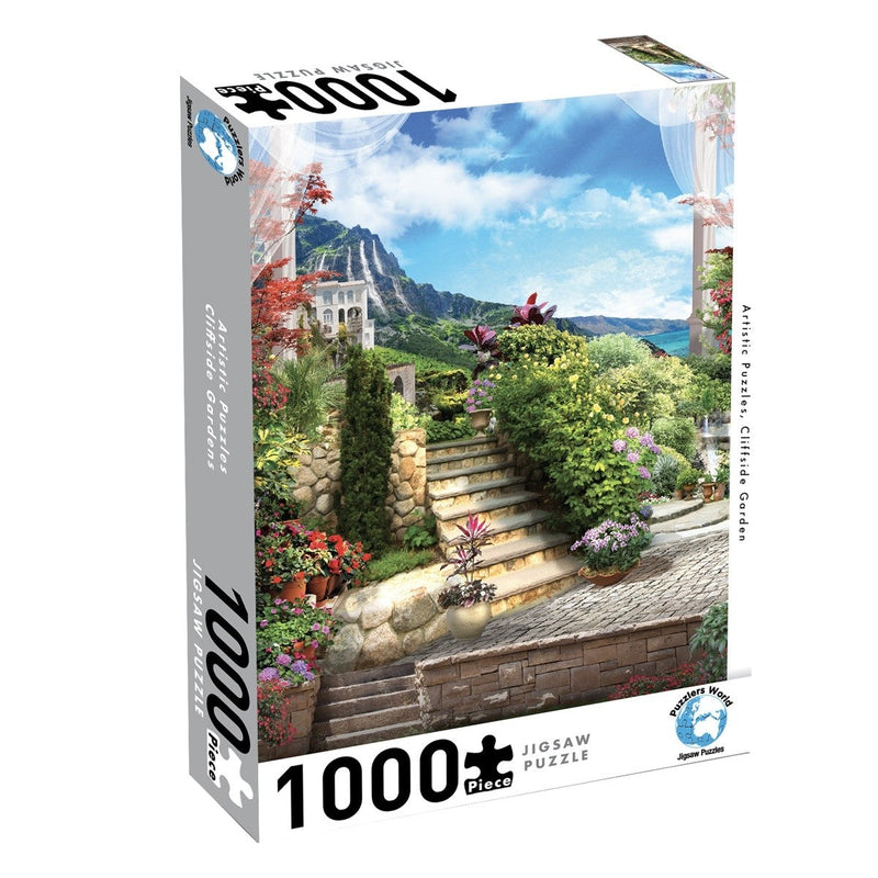 CLIFFSIDE GARDEN: ARTISTIC PUZZLES - 1000PC JIGSAW - PUZZLERS WORLD