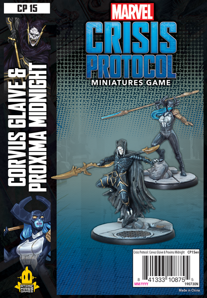 CORVUS GLAIVE AND PROXIMA MIDNIGHT EXPANSION: MARVEL CRISIS PROTOCOL MINIATURES GAME
