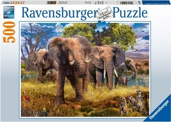 Ravensburger Elephant Family - 500 Piece Jigsaw