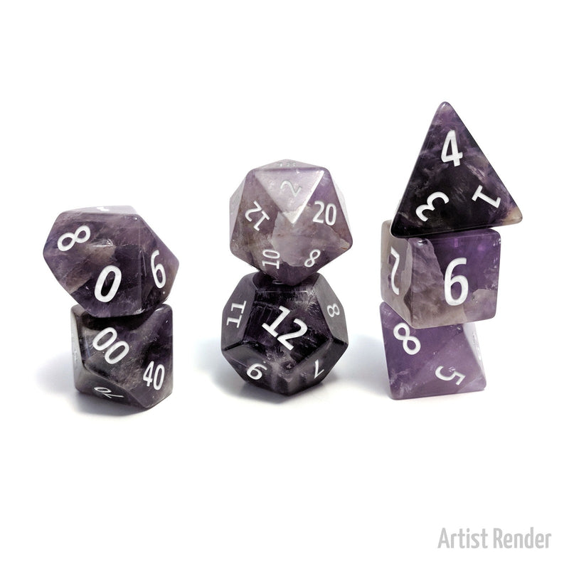 Amethyst 7 Piece Polyhedral Dice: Level Up Dice (Tgc Exclusive)