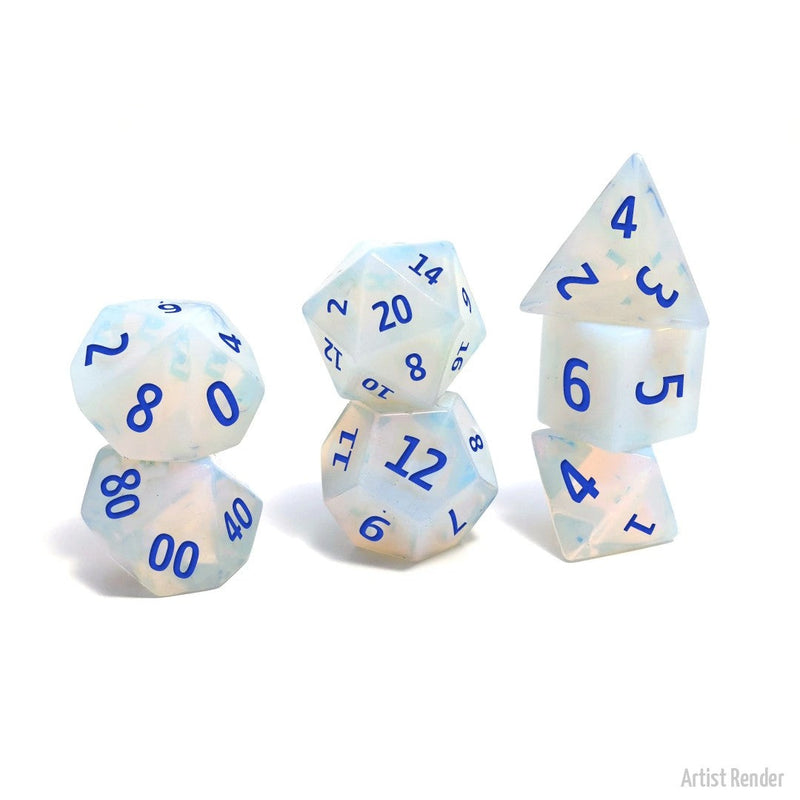 Opalite 7 Piece Polyhedral Dice: Level Up Dice (Tgc Exclusive)