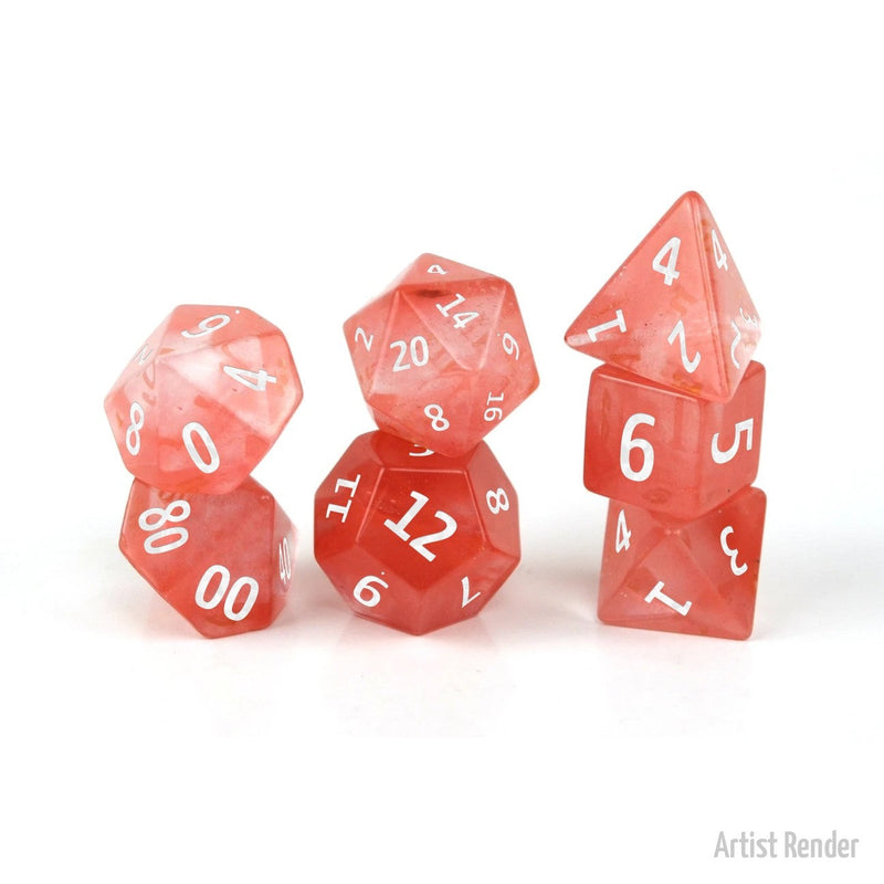 Watermelon 7 Piece Polyhedral Dice: Level Up Dice (Tgc Exclusive)