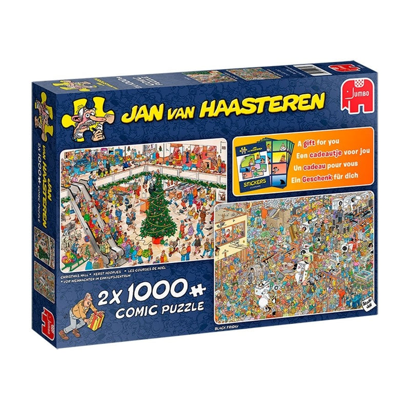 Holiday Shopping - Jan Van Haasteren 2X1000Pc Jigsaw - Jumbo