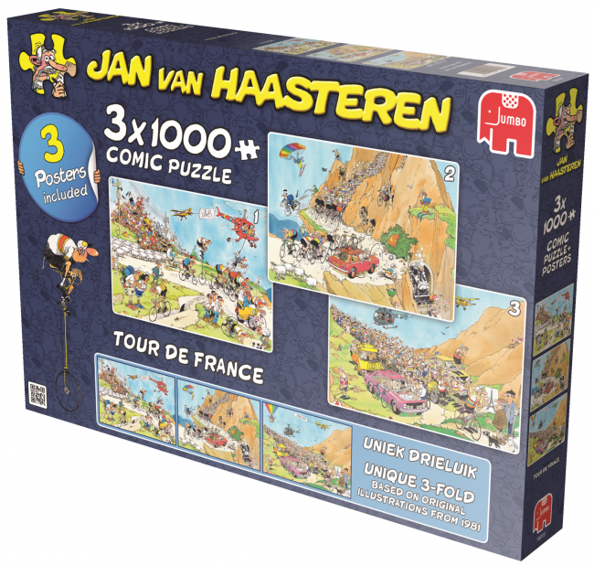 Tour De France: Jan Van Haasteren 3x1000pc Jigsaw Jumbo
