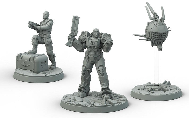 Fallout Wasteland Warfare Brotherhood Of Steel Knight Captain Cade Paladin Danse