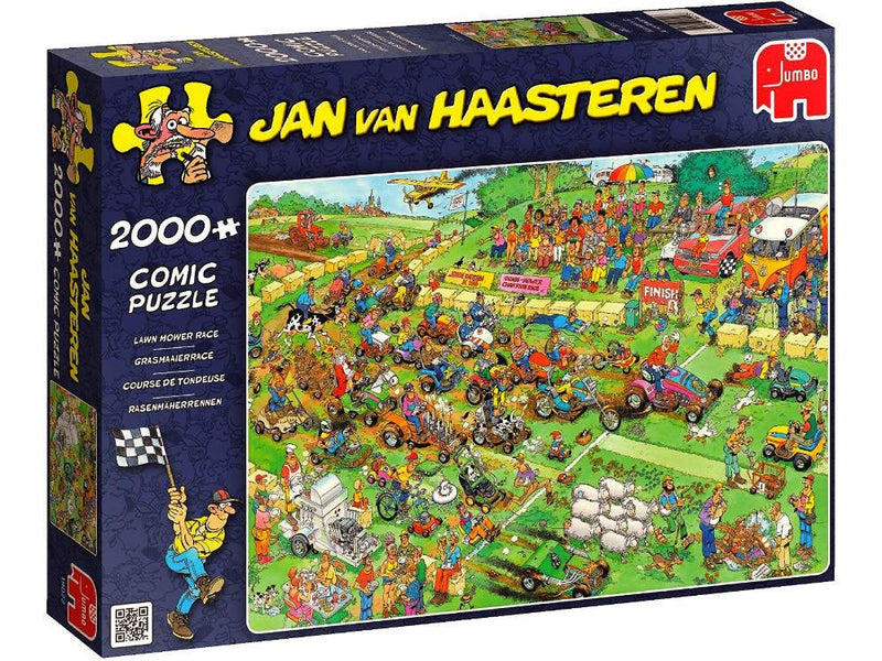 Lawn Mower Race: Jan Van Haasteren 2000pc Jigsaw Jumbo