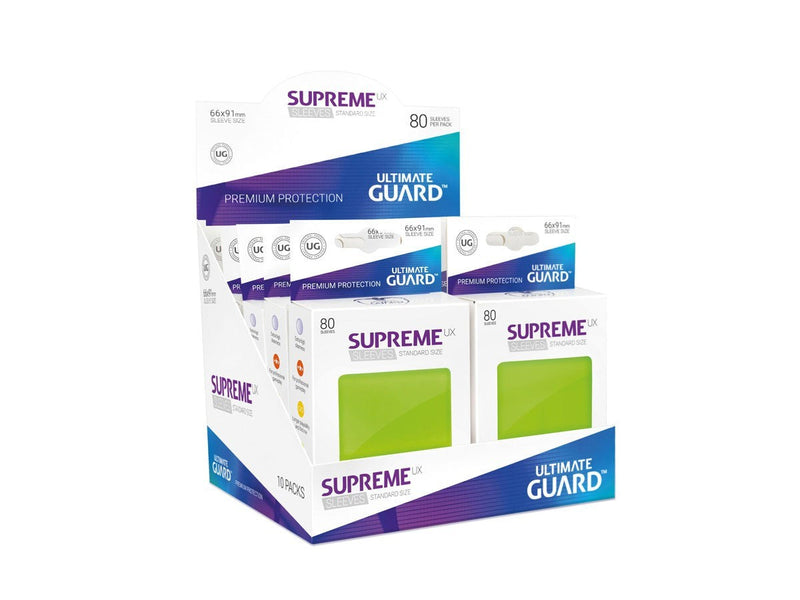 Sleeves Ultimate Guard Supreme Ux Sleeves Standard Size Light Green (80)