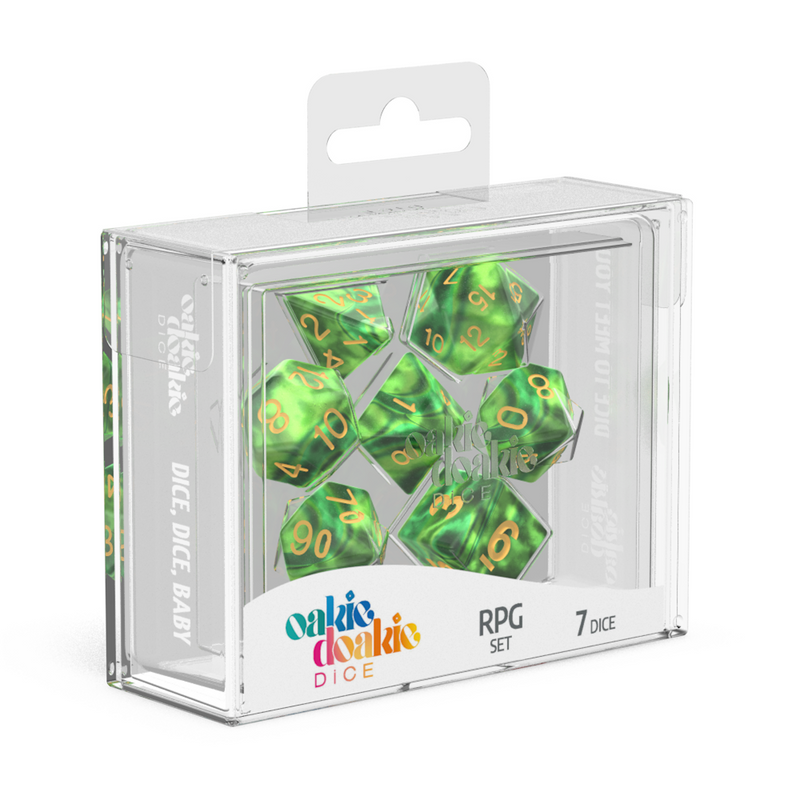 Oakie Doakie Dice Rpg Set Gemidice Jungle (7)