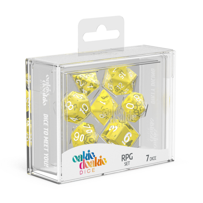 Oakie Doakie Dice Rpg Set Translucent Yellow (7)