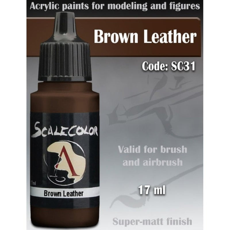 Scale 75 - Scalecolor Brown Leather (17 ml) SC-31 Acrylic Paint