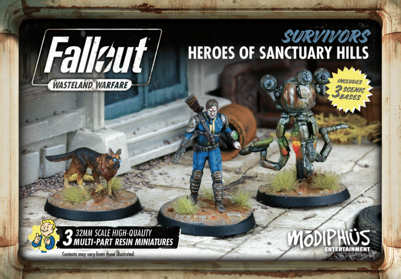 Fallout Wasteland Warfare Survivors Heroes Of Sanctuary Hills
