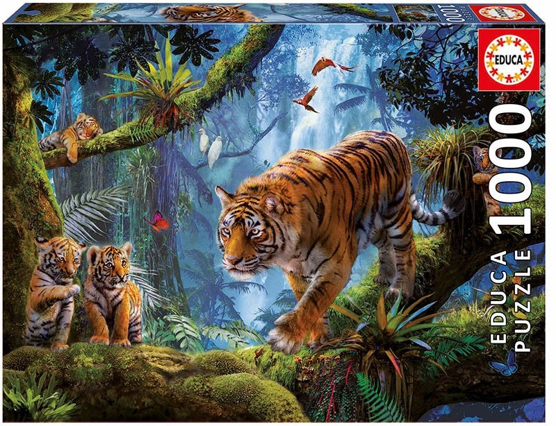 TIGERS IN THE TREE - 1000PC JIGSAW - EDUCA
