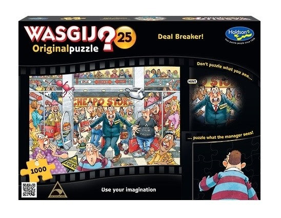 Wasgij Original 25 Dealbreaker 1000pc Jigsaw Holdson