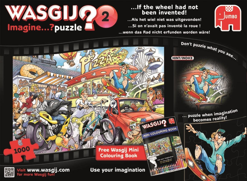 Wasgij Imagine: 2 If The Wheel Had Not Been Invented 1000pc Jigsaw Holdson