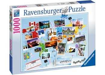 Jigsaw Puzzle World Travel Memories 1000pc