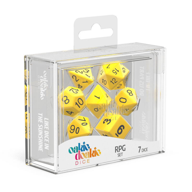 Oakie Doakie Dice Rpg Set Solid Yellow (7) - Good Games ?id=19780506812574