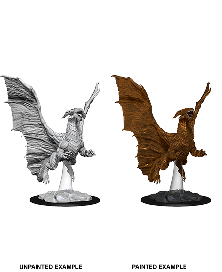Dungeons & Dragons - Nolzurs Marvelous Unpainted Miniatures Young Copper Dragon