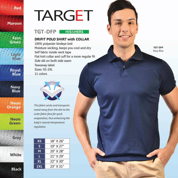 Adult Drifit Polo Shirt (Minimum of 6 pcs)