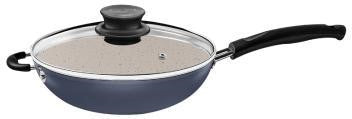 Induction-Ready Wok Pot with Lid (Marble Coated)