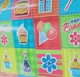 Coated Birthday Wrapping Paper (Pack of 25)