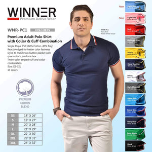 Premium Adult Polo Shirt with Collar & Cuff Combination (Minimum of 6pcs)