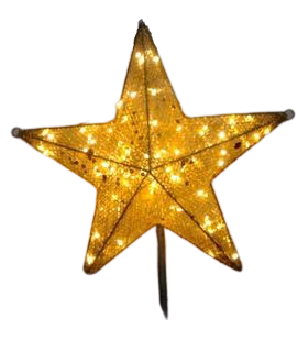 Star Treetop with Light