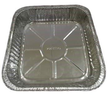 Square Aluminum Tray (Pack of 10)