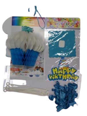 Blue Birthday Set