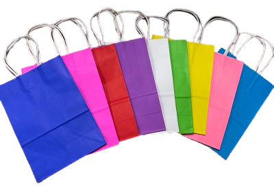Colored Paper Bags (Minimum of 6 Pieces Per Size)