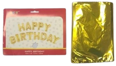 Foil Birthday Balloons Set