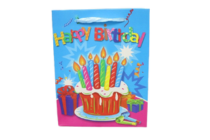Happy Birthday Paper Bags (Pack of 12)