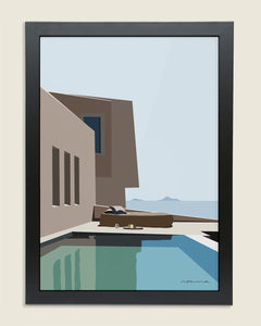 Greek Blue Framed