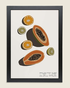 Papaya Juice Framed
