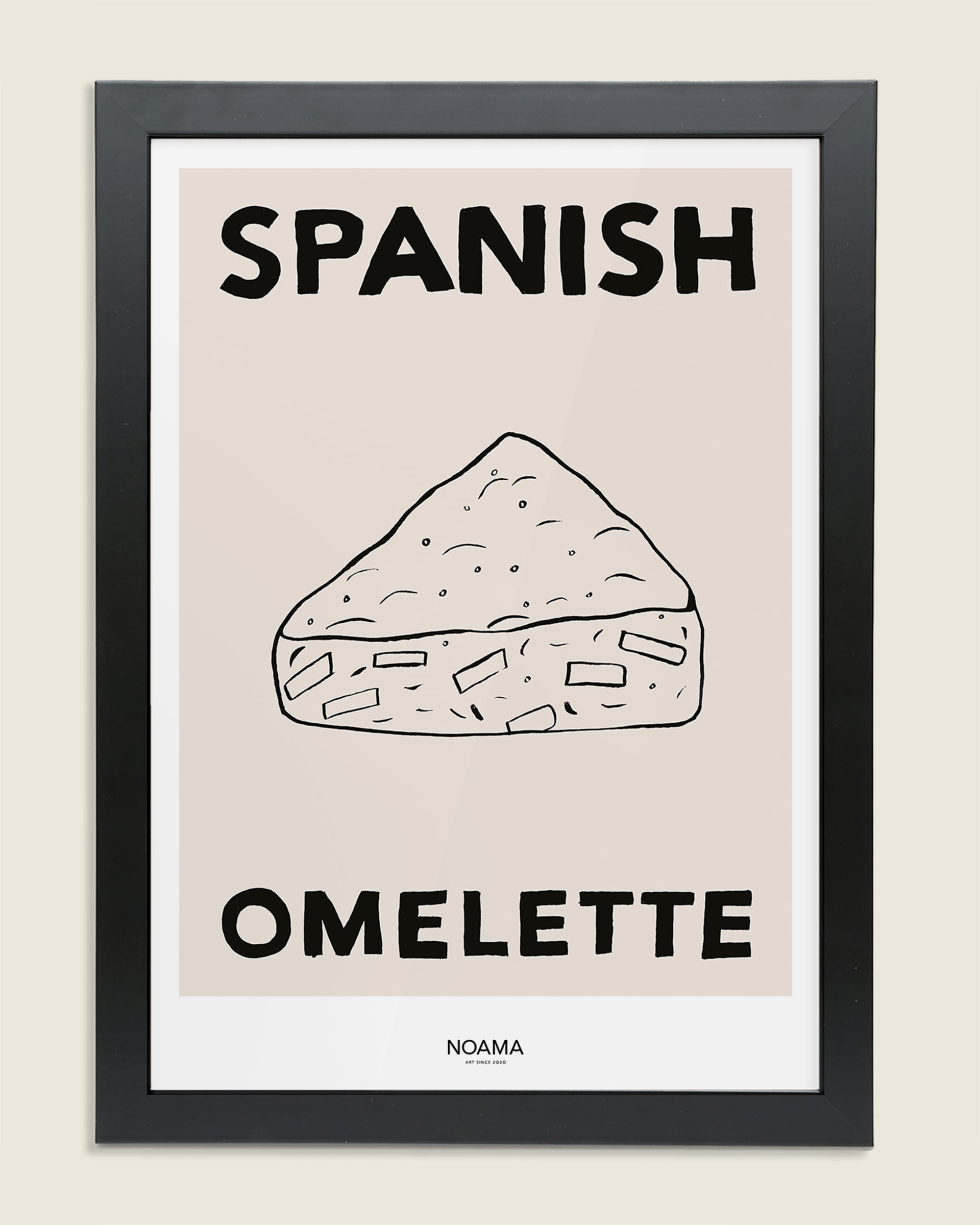 Spanish Omelette Framed