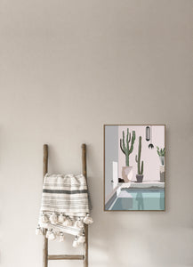 modern illustration of La Maison Marrakech by Noama giclee art print